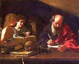 Image of St Jerome sitting writing.