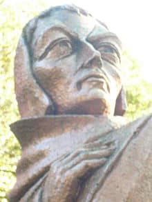 Stone statue of John Duns Scotus