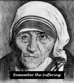Sketch of St Mother Teresa of Calcutta.