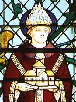 Stain Glass Window Image of St Oswald of Worcester