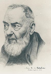 Portrait Sketch of St Padre Pio