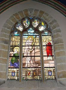Stain-glass-window image of St Perpetua and St Felicity
