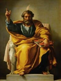 Image of St Peter receiving the Holy Spirit.