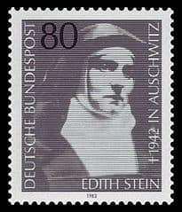Image of St Teresa Benedicta on a Postage Stamp