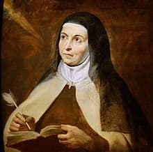 Image of St Teresa of Avila writing.