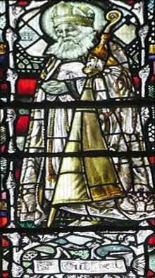 Stain Glass Window Image of St Cuthbert