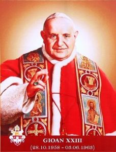 Official photograph of Pope St John XXIII at his canonisation.