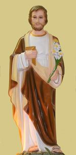 Image of a Statue of St Joseph.
