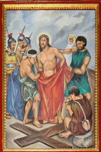 Tenth Station: Jesus is stripped of His Clothing.