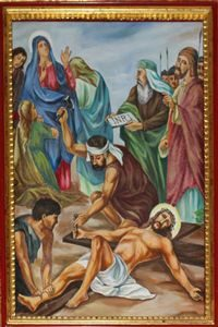 Eleventh Station: Jesus is Nailed to His Cross.