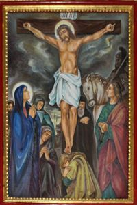 Twelfth Station: Jesus Dies hanging on the Cross.