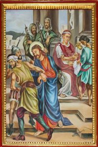 First Station: Jesus is led away to be Crucified.