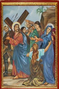 Fourth Station: Jesus Meets His Blessed Mother.