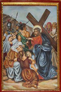 Eight Station: Jesus meets the Women of Jerusalem.
