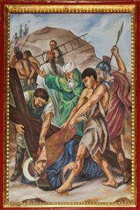 Ninth Station: Jesus Falls a Third Time.