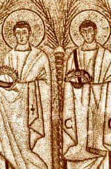 Sketch of St Protus & St Hyacinth