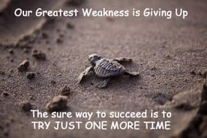 "Quote - Weakness: ""Our greatest weakness is..."""