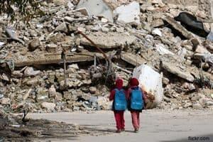Syrian Children On Their Way To School