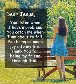 "Quote"" Dear Jesus, You listen when..."""