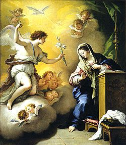 An Angel appears to Mary - The Annunciation.