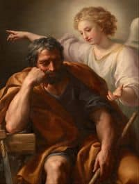 An Angel appears to St Joseph in a dream