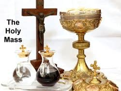 Altar set for use in the Holy Mass