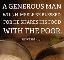 "Quote - Poor: ""A Generous Man..."""