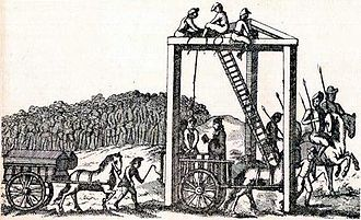 Sketch of The Tyburn-tree Gallows