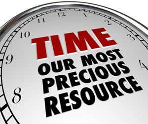 """Clock with Quote: """"Time is our..."""""""
