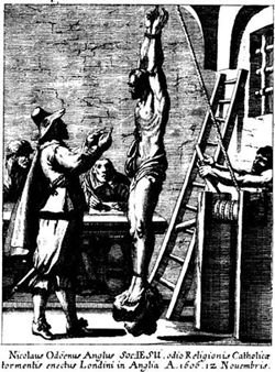 Image showing torture of St Nicholas Owen