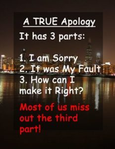 "Quote: Apology - ""A true apology..."""