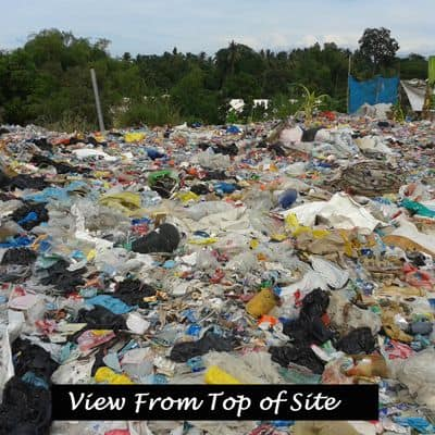 A view from the top of the rubbish dump.