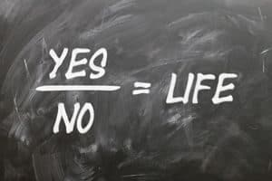Equation: Yes/No=Life