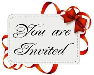 """Invitation card """"You Are Invited"""""""