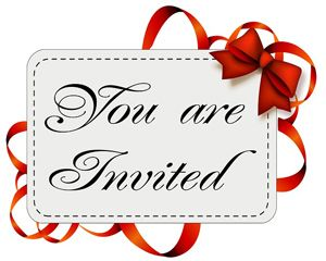 "Invitation card ""You Are Invited"""
