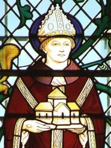 Stain Glass Window Image of St Wulfstan