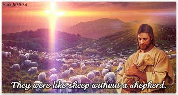 Jesus holding a Lamb