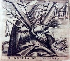 Sketch of St Angela of Foligno