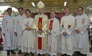 Bishop with Priests