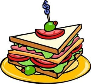 Coloured Sketch of a Sandwich