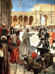 Jesus in Courtyard