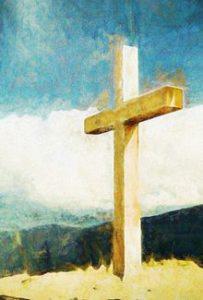 Cross on a hillside