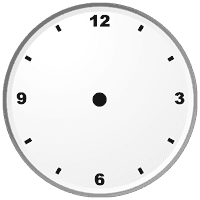 Clock Face, no hands