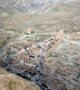 Mar Saba Monastery in Palestine