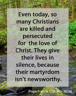 Martyrdom Quote - Pope Francis