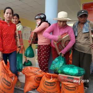 Distribution of Food Gift to Families