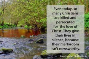 Quote: Even today, so many Christians...