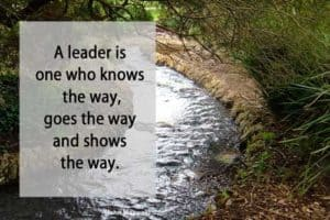 Quote: A Leader is one who...