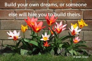 Quote: Build your own dreams or...
