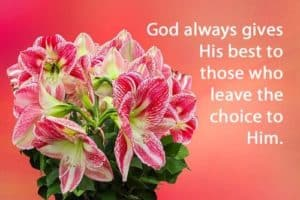 Quote: God always gives...